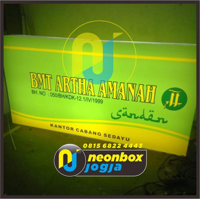 Jasa Pembuatan Neon Box Murah di Jogja