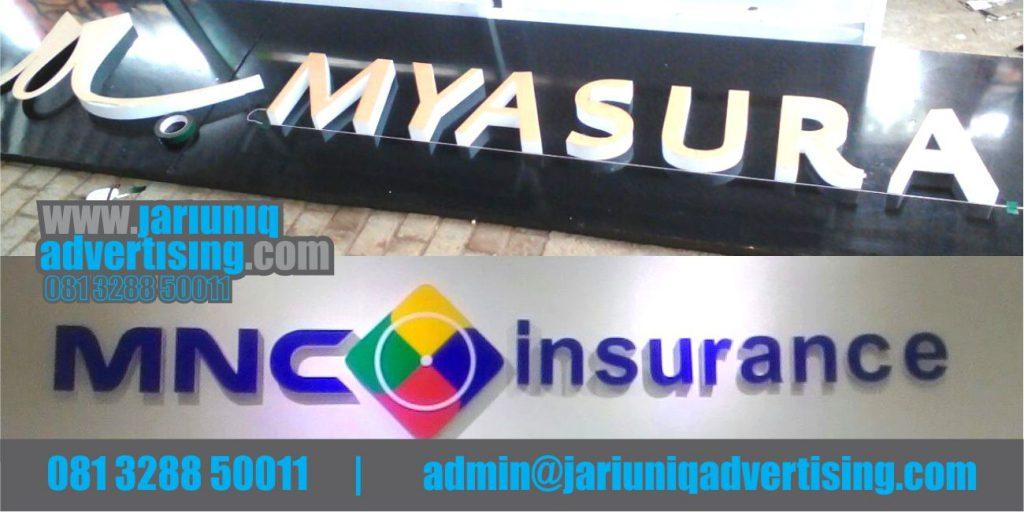 Jasa Advertising Jogja Huruf Timbul Akrilik MNC Insurance Di Bantul