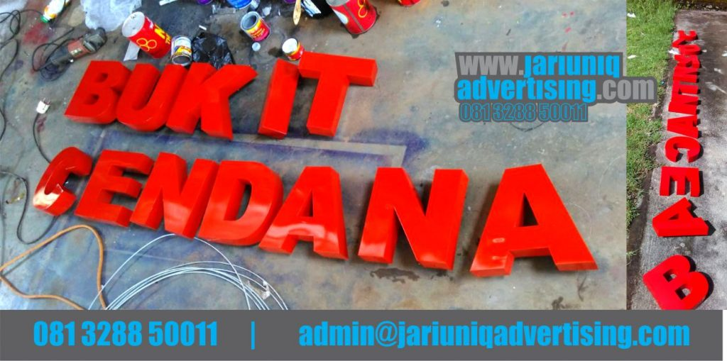 Jasa Advertising Jogja Huruf Timbul Galvanis Bukit Cendana Di Bantul