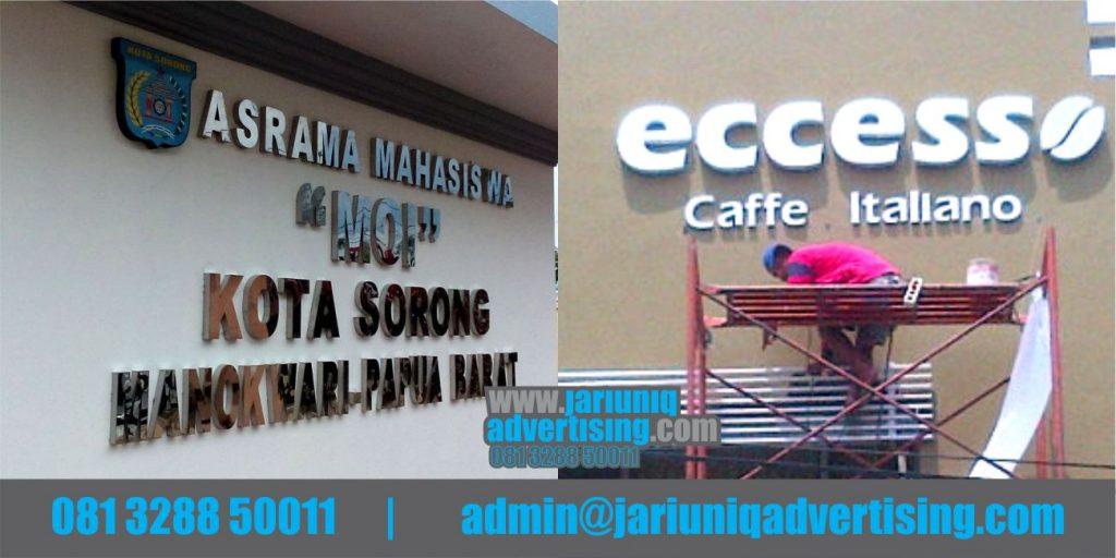 Jasa Advertising Jogja Huruf Timbul Galvanis Eccesso Di Bantul