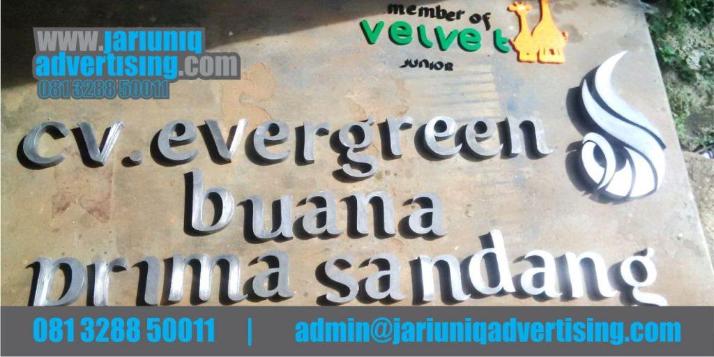 Jasa Advertising Jogja Huruf Timbul Galvanis Evergreen Bantul