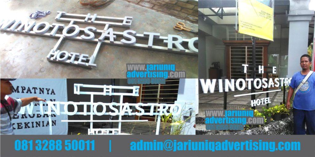 Jasa Advertising Jogja Huruf Timbul Galvanis Hotel Di Bantul