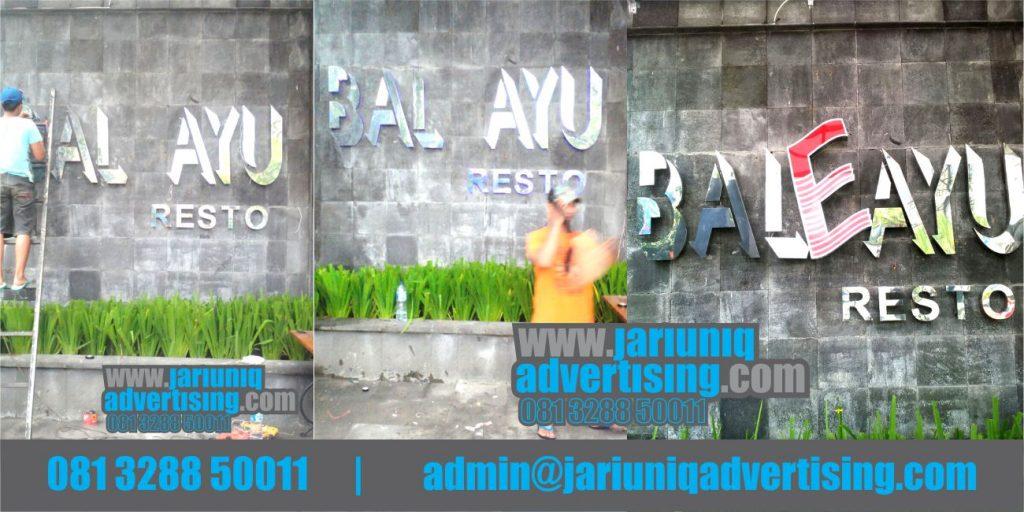 Jasa Advertising Jogja Huruf Timbul Stainless Bale Ayu Di Bantul