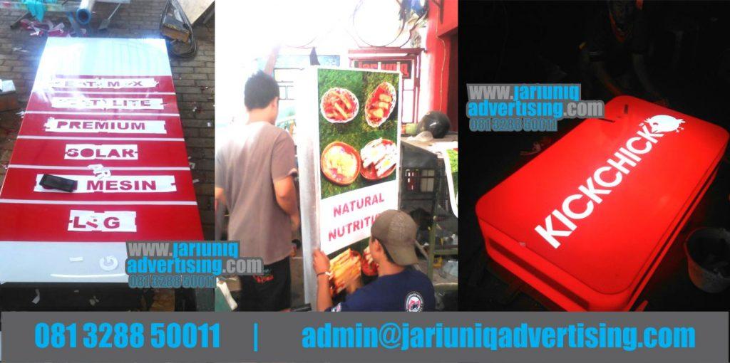 Jasa Advertising Jogja Neon Box Akrilik kickchik Pom Di Bantul