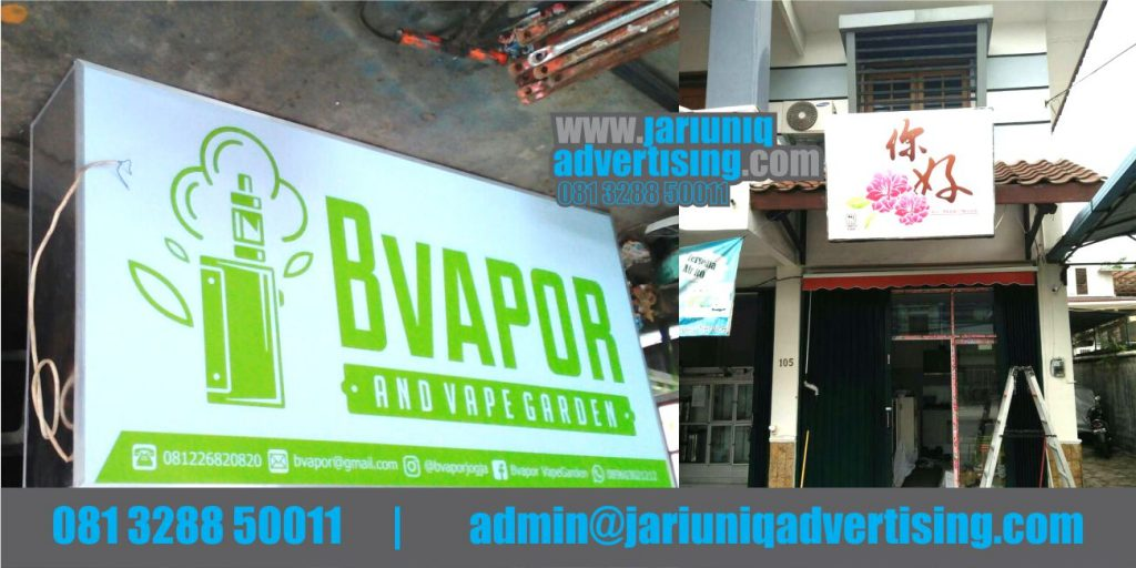 Jasa Advertising Jogja Neon Box Backlite Vape Di Bantul