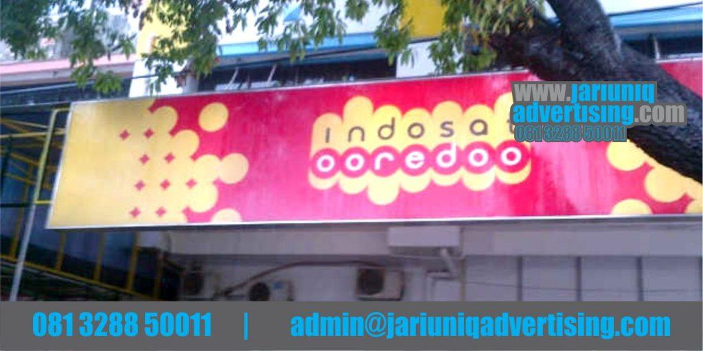 Jasa Advertising Jogja Neon Box Indosat Di Bantul Yogyakarta